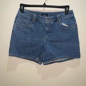 Sonoma Sz 10 blue denim jean shorts 100% cotton